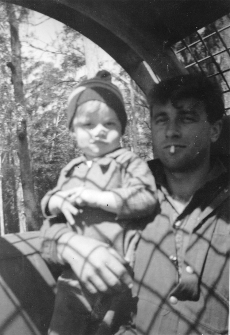 Ian and Brad at Bellthorpe 1962